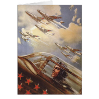 Greeting Card with Old USSR Air Force Propaganda