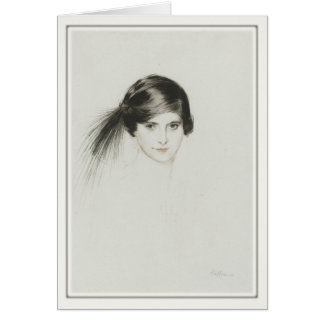 Greeting Card With Paul Cesar Helleu Painting