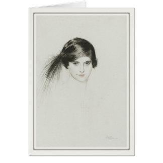 Greeting Card With Paul Cesar Helleu Painting