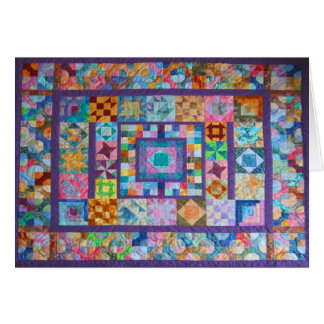 Greeting Card with Photo of Handmade Quilt