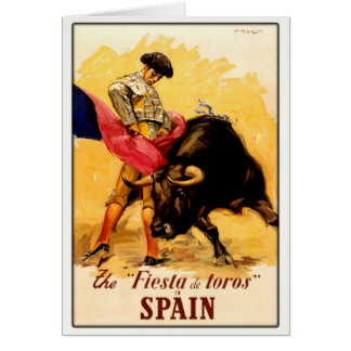 Greeting Card with Spanish Bullfight Poster