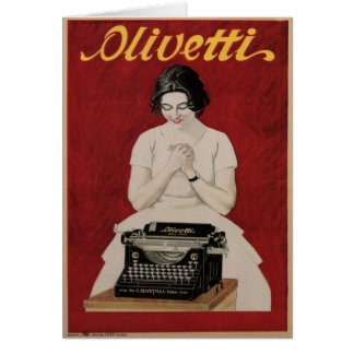 Greeting Card with Vintage Ad Print from Italy