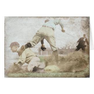 Greeting Card with Vintage Baseball Print