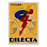 Greeting Card With Vintage Bicycle Poster Print