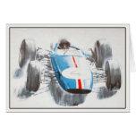 Greeting Card With Vintage Racing Car