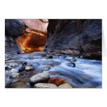 Greeting Card Zion Canyon The Narrows Blank Inside