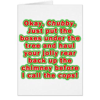 Greeting cards - Bad Chubby Santa