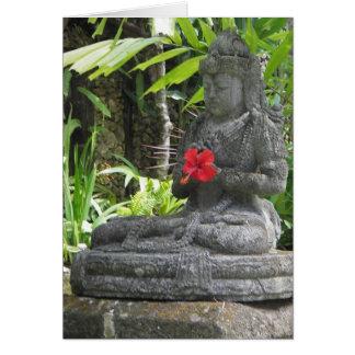 Greeting Cards: Bali Statue Greeting Card