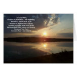 Greeting cards Because of you 10