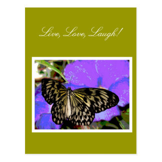 Greeting Cards Butterfly Live, Love, Laugh Design