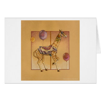 Greeting Cards - Carousel Giraffe