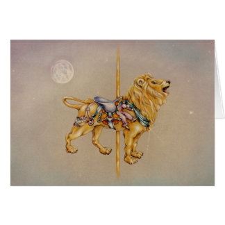 Greeting Cards - Carousel Lion