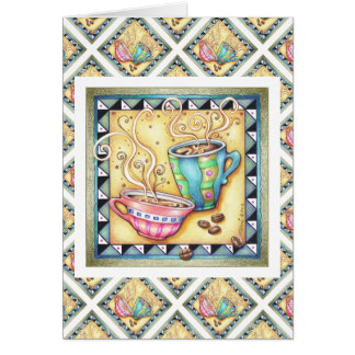 GREETING CARDS - COOL BEANS COFFEE ART