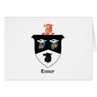 Greeting Cards featuring the Tenney Family Crest