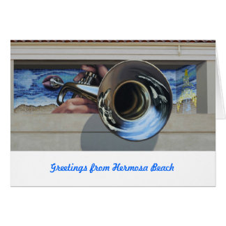Greeting Cards~ Mural #3   West Coast Jazz Stationery Note Card
