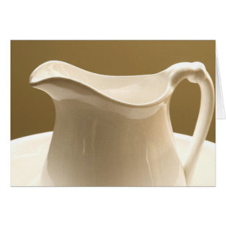 GREETING CARDS   PITCHER AND BOWL