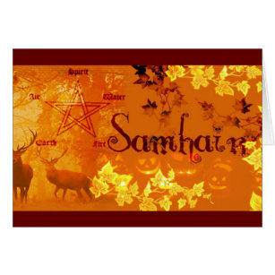 Halloween blessings cards greeting photo cards zazzle greeting cards samhain card m4hsunfo