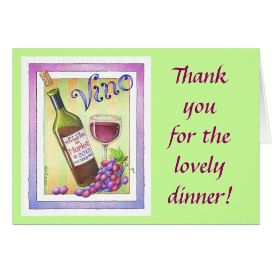 GREETING CARDS - VINO!  You Had Me at MERLOT!