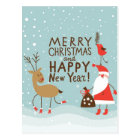 Greeting Christmas and New Year card