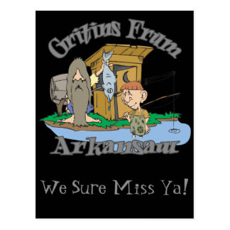 Greeting From Arkansas in Hillbilly! Postcard