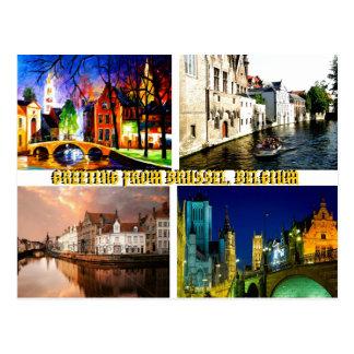 GREETING FROM BRUSSELS BELGIUM BYMojisola A Gbadam Postcard