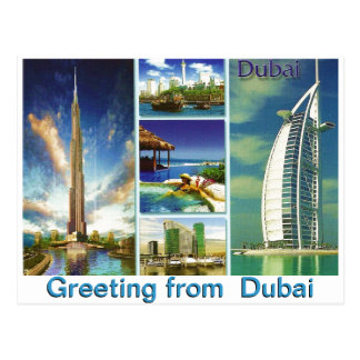 Greeting from  Dubai by Mojisola A Gbadamosi Postcard