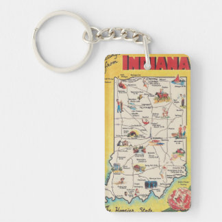 Greeting from Indiana vintage  key-chain Keychain