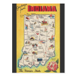 Greeting from Indiana vintage postcard
