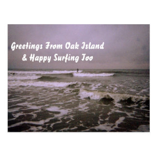 Greeting from Oak Island card Postcard