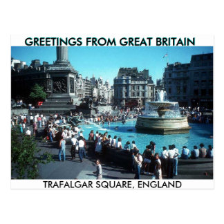 greeting from the Britain Postcard