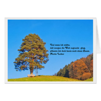 Greeting map age tree saying Schiller Card