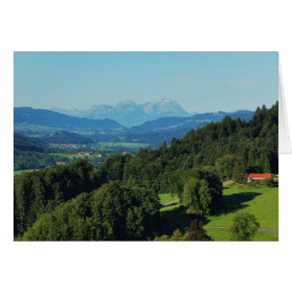 Greeting map alpine panorama with Säntis Card
