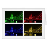Greeting map Cologne cathedral Greeting Cards