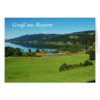 Greeting map greeting from Bavaria Card