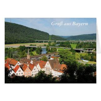 Greeting map greeting from Bavaria Gemünden A. Card