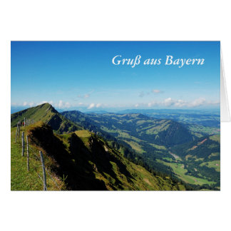 Greeting map greeting from Bavaria high burr with Card