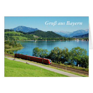 Greeting map greeting from Bavaria with large Card