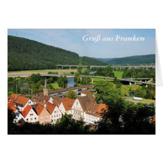 Greeting map greeting from franc Gemünden A. Main Card