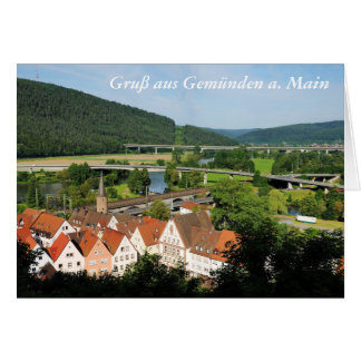 Greeting map greeting from Gemünden A. Main Card
