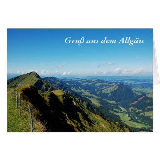 Greeting map greeting from the Allgäu with upper Card