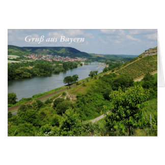 Greeting map greeting greeting from Bavaria with Card
