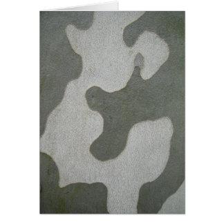 Greeting map, grey-green sample on bark card