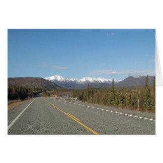 Greeting map highway in Alaska Card