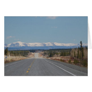 Greeting map highway in Canada Card