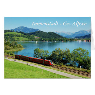Greeting map Immenstadt - large Alpsee Card