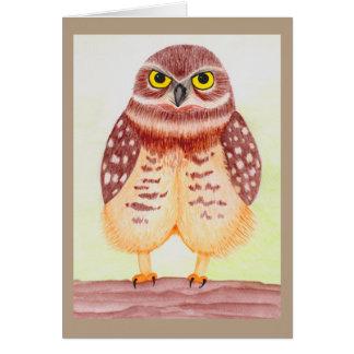Greeting map owl