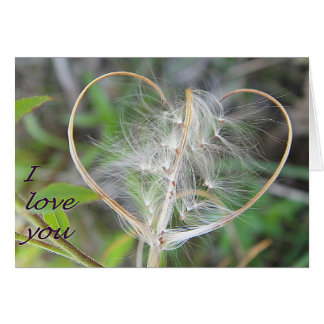 Greeting map plant heart: i love you card