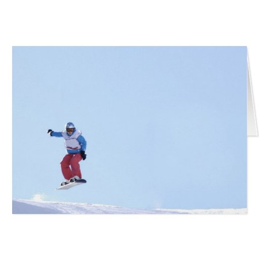 Greeting map Snowboarder Cards