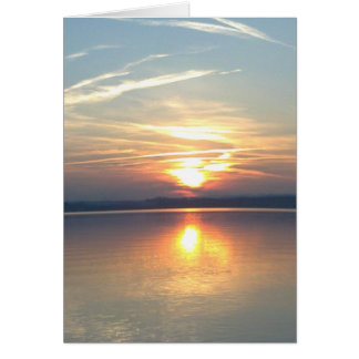 Greeting map sunset, shapable in blank greeting cards