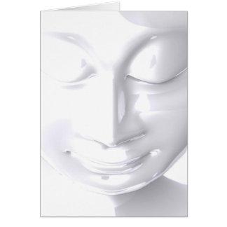 Greeting map - White Buddha Face Card